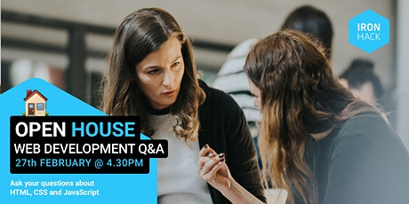 OPEN HOUSE | Web Development Q&A bilhetes