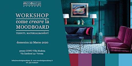 workshop COME CREARE LA MOODBOARD biglietti