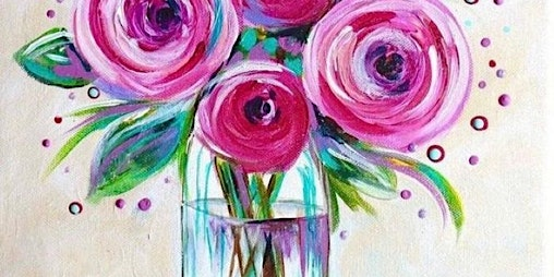 Springtime Flowers Paint and Sip Event