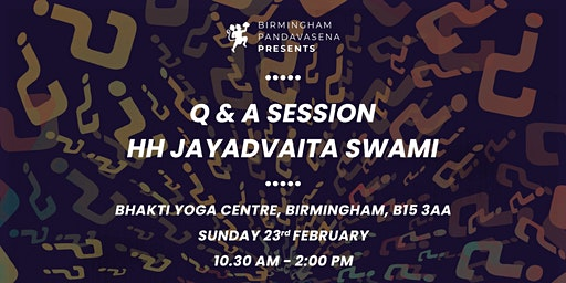 Q&A Session with HH Jayadvaita Swami