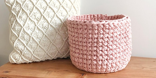 March Crochet Basket Class at Socially Handcrafted