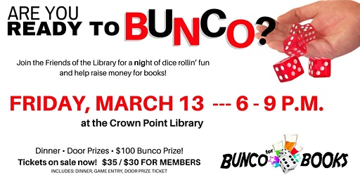 BUNCO FOR BOOKS!