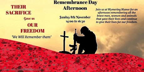 Wymering Manor's Rememberance Afternoon tickets
