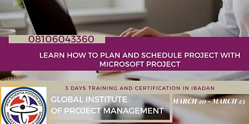 Learn Project Planning and Scheduling With Microsoft Project in Ibadan.