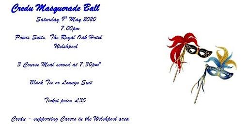 Welshpool Carers Masquerade Ball Fundraiser