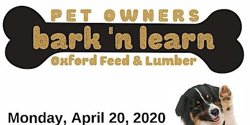 Pet Owner's Bark N' Learn