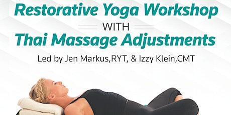 Restorative Yoga with Thai Massage Adjustments tickets
