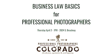 Business Law Basics for Professional Photographers tickets