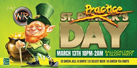 12th Annual St. Practice Day Glow Party at Whisky River tickets