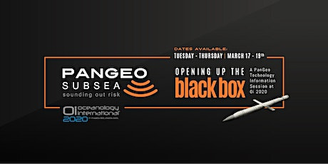 PanGeo Subsea - Opening up the Black Box tickets