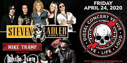 Steven Adler of Guns N Roses w/sg Mike Tramp of White Lion