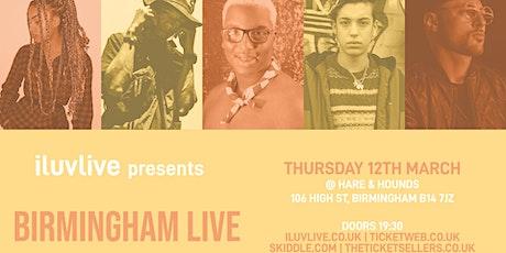 ILUVLIVE BIRMINGHAM LIVE tickets