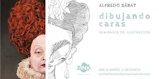 Dibujando caras // Seminario de ilustración, por Alfredo Sábat