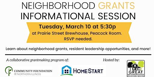 Neighborhood Grants Info Session