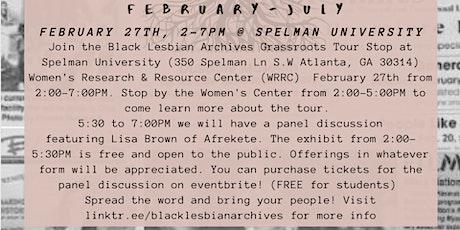 Black Lesbian Archives Grassroots 2020 Tour: Afrekete @ Spelman Universitytickets