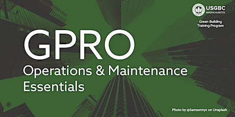 GPRO: Two-Part Operations and Maintenance Course | GBTP tickets
