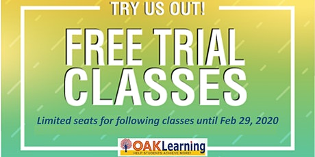 FREE Academic Trial Classes tickets