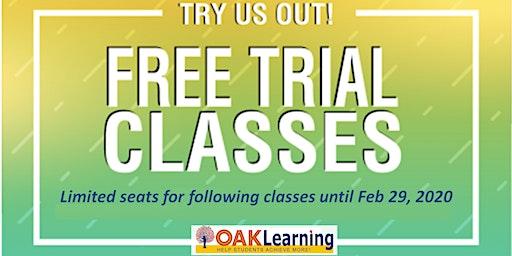 FREE Academic Trial Classes
