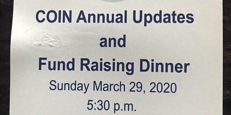 2020 COIN Annual Fundraising Dinner  tickets