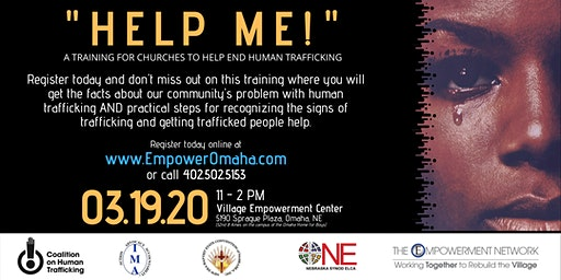"""""""HELP ME!"""" Human Trafficking Prevention Training for Churches"""