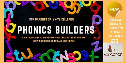 Phonics Builders Workshop for Parents
