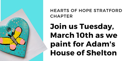Join us for our March 10 Paint with a Purpose as we paint for Adam's House