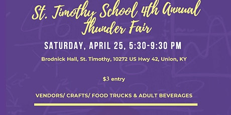 St Timothy Thunder Fair Craft Show 2020 tickets