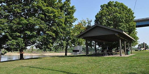 Park Shelter at Riverfront Park - Dates in April through June