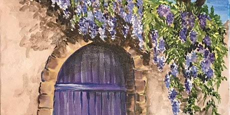 The BEST Paint and Sip Party ! 'Cascading Purple' tickets