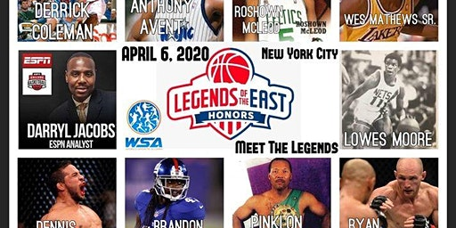 NYC Celebrity NBA Event:  Legends of the East with the World Sports Alumni