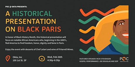 POC@Okta Presents: A Historical Presentation on Black Paris tickets
