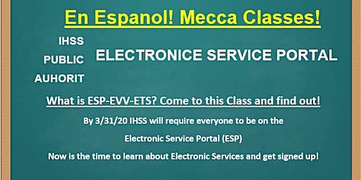 EN ESPAN0L! Mecca  Electronic Services Portal Training