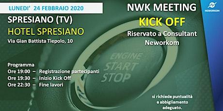 KICK OFF Neworkom Area NordEst- TRAINING per Consultant NWK - SPRESIANO biglietti