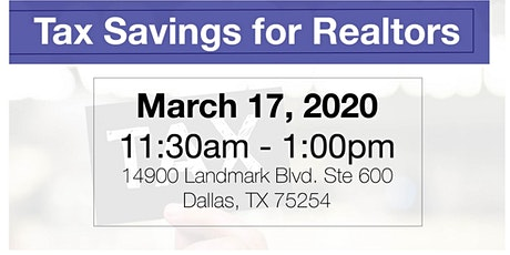 Tax Savings for Realtors tickets
