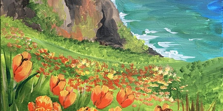 Creative Paint and Sip Class, 'Coastal Super Bloom' tickets