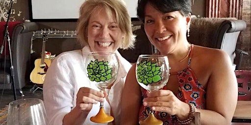 Wine Glass Painting Class at The Well on 3/5 at 6:30pm