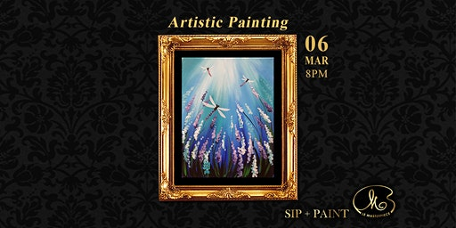 Sip and Paint (Artistic Painting):  Dragon Fly