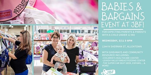 "FREE Tickets for ""Babies & Bargains"" Event at JBF!"