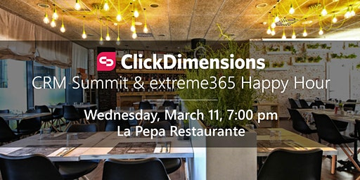 ClickDimensions extreme365 & Community Summit Europe Happy Hour