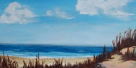 Join our Wine and Paint Party 'Relaxing Shores' tickets