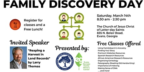 Family Discovery  Day Featuring Larry W. Thomas tickets