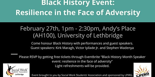 Black History Speaker event: Resilience in the Face of Adversity