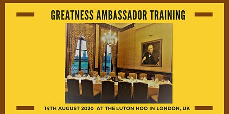 Greatness Ambassador Training: Evening  Session billets