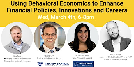 Using Behavioral Economics to Enhance Financial Policies & Careers tickets