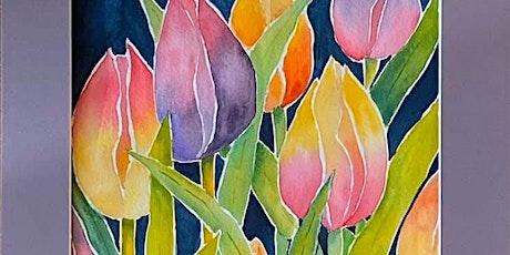 Tulip Watercolor Class tickets