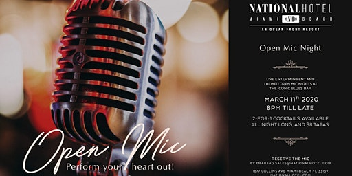 Open Mic Night at the National Hotel