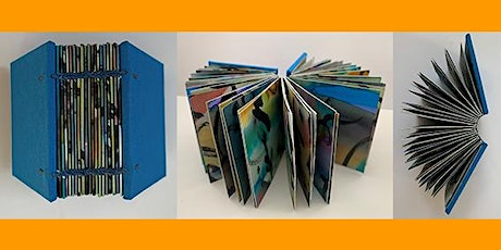 DOUBLE NEEDLE COPTIC BOUND BOOK WITH PAINTED PAPERS (2 Day Workshop) tickets