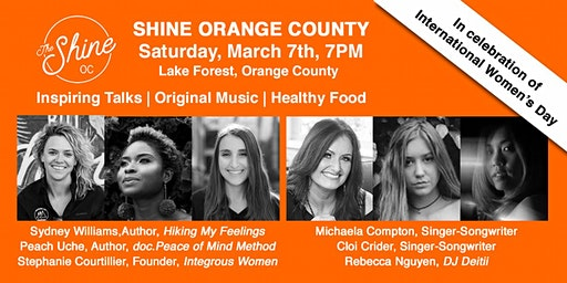 Shine Movement OC - Inspiring Talks & Music, Healthy Food and More