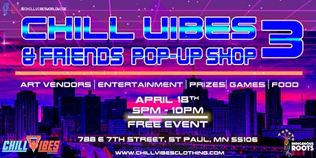 Chill Vibes & Friends Pop-Up Shop 3 tickets