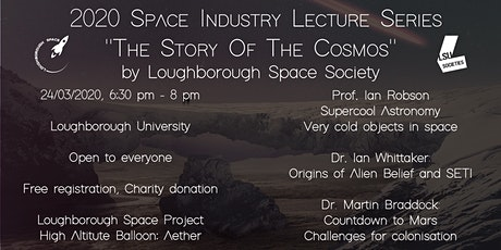 POSTPONED - Space Industry Lecture: The Story of the Cosmos tickets
